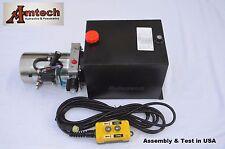 3210S Hydraulic Power Unit, Hydraulic pump, 12V Single Acting,10Qt, Dump Trailer