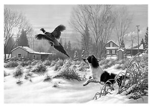 Hunting Dog Sport Animals - Black And White Art Large Poster & Canvas Pictures