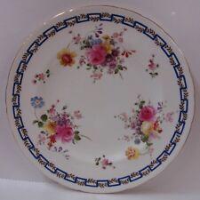 Royal Crown Derby SPRING (A736) TWO Dinner Plates BLUE GREEK KEY Discount POSIES