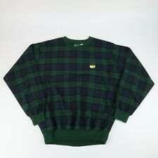 VTG Masters Augusta Golf Players Design Size XS Blue Green Plaid Sweater Jacket