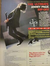 Led Zeppelin, Jimmy Page, Full Page Vintage Promotional Ad
