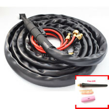 3meters//10ft TIG Torch Kit Welding Gas Lens Set Accessory 150Amp Denim Cover