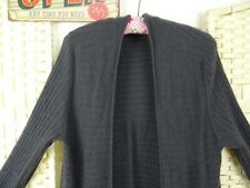 Marks & Spencer pure cashmere charcoal grey cardigan ribbed  16 PB266
