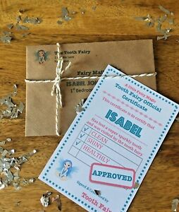 Personalised Magical Tooth Fairy Letter/Certificate 2019