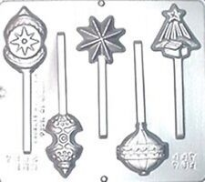 Christmas Ornament CHOCOLATE Candy Lollipop  Sucker MOLD  Shapes