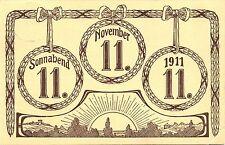 """Kurioses Datum, 11.11.11 (1911), klarer Stempel """"Selbitz"""","""