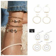 Heart Women Fashion Anklets 2020 Wholesale Gold Plated Jewelry Lovely Butterfly