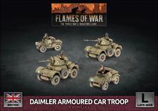 Flames of War British Daimler Armoured Car Troop New
