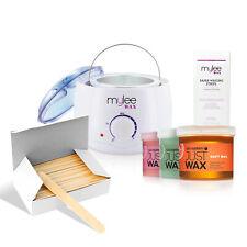 Mylee Waxing Set Kit Salon System Wax Heater Warmer Spatulas Strips  Depilatory