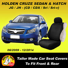 Car Seat Covers HOLDEN CRUZE CD CDX SRi SRi-V Sedan or Hatch Black 2009-2014