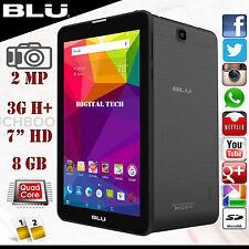 "BLU TouchBook M7 P270U Unlocked Phone Android 5.1 7.0"" HD 3G Quadcore 8GB Black"