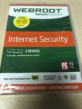 Webroot SecureAnywhere Internet Security 3-Devices Mac, Windows, PC Android iOS