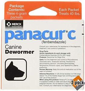 Panacur C Canine Dewormer,2 x 4 Gram Pack