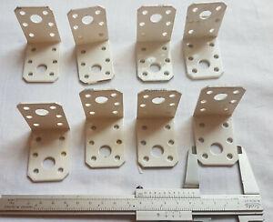 8 Stück Bauwinkel 50 x 50 x 36 x 2,6 mm verzinkt, kunststoffbeschichtet