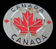 Canada Canadian Maple Leaf Hockey Sport Red Flag Belt Buckle Boucle de Ceinture