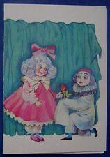 1989 Soviet Flip Postcard Malvina Pinocchio Buratino Ozhegova Infrequent t 181d