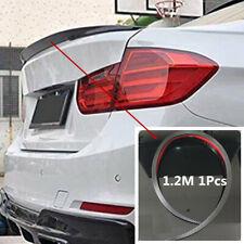 Carbon Fiber Auto Rear Wing Lip Spoiler Tail Car Trunk Roof Trim Sticker Decor