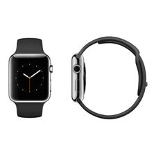 Apple Watch Sport 42mm Silver Stainless Steel Black Sport Band VGC