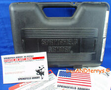 Springfield Armory Xd Black Factory Hard Plastic Pistol Handgun Box Case &Manual