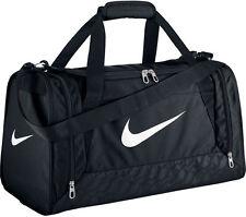 Nike Brasilia Duffel Black Training Sports Gym Travel Bag Small - Black BA4831
