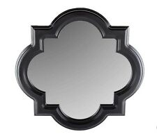 "LARGE 30"" Black Quatrefoil Styrene Mirror Home Wall Decor ON SALE New"