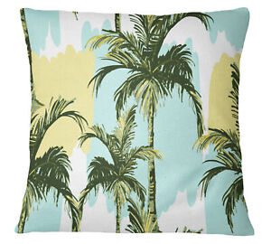 S4Sassy Tropical Palm Tree Square Cushion Cover Throw Pillow Case-hRP