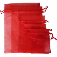 25/100Pc Organza Gift Bags Luxury Wedding Party Favour Jewellery Packing Pouches
