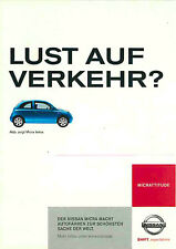 Advertising Postcard Nissan Micra tekna - in Blue