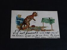 ORIGINAL LOUIS WAIN SIGNED CAT POSTCARD - IF NOT PREVENTED - E.S.W.
