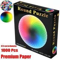 1000 Stück rundes buntes Regenbogen-Puzzle nach Hause DIY Geometrical Photo Gift