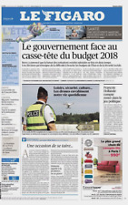 Le Figaro 24/8/2017*DRONES PARTOUT*FILLON lâche politique & va FINANCE*TRUMP fui