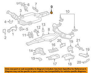 MERCEDES OEM 15-17 S550 4.6L-V8 Exhaust-Muffler & Pipe Seal 2214920081