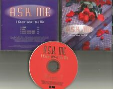 A.S.K. ME I know What you did CLEAN & REMIX & INSTRUMENTAL PROMO CD Single Ask