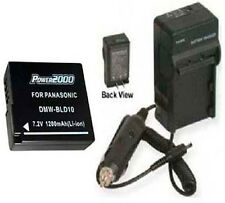 Battery + Charger for Panasonic DMW-BLD10 DMW-BLD10PP
