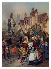 Execution of Jacques DeMolay Art print ring 12x18 Freemasonry Knights Templar