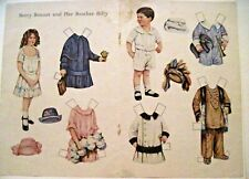 "Old-Fashion Paper Dolls ""Betty Bonnet"" &Brother Billy,1942 Jack & Jill Magazine*"