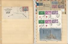 Worldwide Collection of Covers, 13 Different, Nice Selection, + Cut Squares