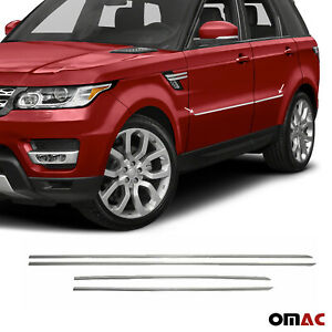 Fits Land Rover Discovery Sport 2015-2021 Chrome Side Door Trim S.Steel 4 Pcs