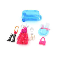 Doll Accessories Travel Suitcase With Dress Hat Shoe Jewelry Set For  Gift BADD