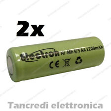 2 BATTERIE ACCUMULATORE NI-MH 4/5AA 1,2V 1200mAh rechargeable battery NiMh