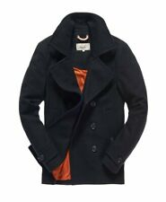 Superdry Commodity Pea Coat Charcoal XXL