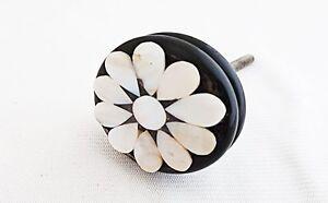 Acrylic mother of pearl flower flower round 4cm door knob/pulls/handles