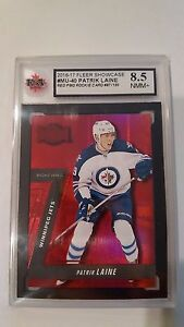 Patrik Laine 2016-17 Precious Metal Gem Red 87/150 Rookie Hockey Card Graded 8.5