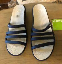 NWT Crocs Womens Navy sandals size 10