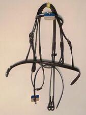 Stubben Bridle 2300 Leitrim Ebony Full Size Padded Raised Flash Noseband & Brow