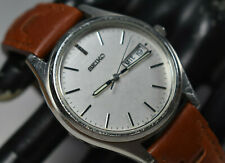 VINTAGE! Seiko Silver Tone Stainless Steel 7N43-919M Men's Watch NEW BATERY/BAND