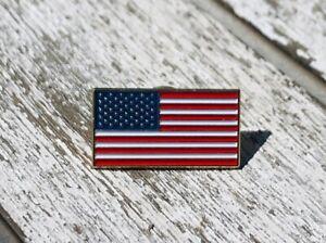 "NEW America Flag Enamel 1"" Lapel Pin United States USA American US TRUMP MAGA"