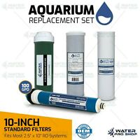 """4-Stage RO/DI VALUE Replacement Filter Kit, SEDIMENT,CTO,DI,100 GPD RO - 2.5X10"""""""