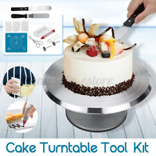 "Cake Decorating Turntable Kit 11-24"" Rotating Stand Baking Accessory Round Plate"