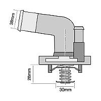 TRIDON Std Thermostat For Nissan Murano Z50 - ST, TI 07/05-01/09 3.5L VQ35